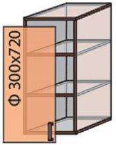Модуль №2 в 300-720 верх кухни «Квадро»