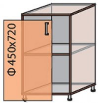 Модуль №4 н 450-820 низ кухни «Квадро»