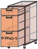 Модуль №8 ш 300-820 (1+2) низ кухни «Квадро»