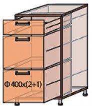 Модуль №9 ш 400-820 (1+2) низ кухни «Квадро»