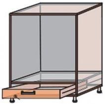 Модуль №12 нд 600-820 низ кухни «Квадро»