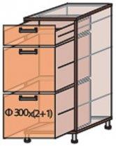 Модуль №8 ш 300-820 (1+2) низ кухни «Мода»