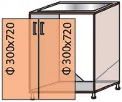 Модуль №13 м 600-820 низ кухни «Флоренция»