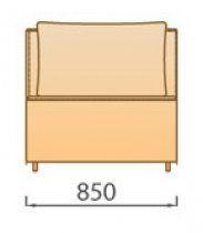 Модуль 1СР для модульного диван а Сиена