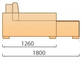 Модуль Шезлонг для модульного диван а Сиена