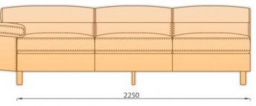 Модуль 3С для модульного диван Магнум