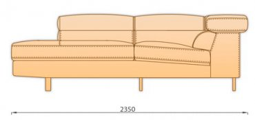 Шезлонг для модульного диван Магнум