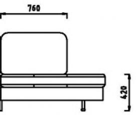 Модули П1С112 /П1С122 / П1С136 модульного дивана Римини
