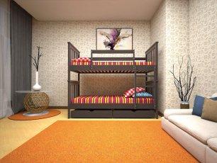 Двухъярусная кровать ТИС Трансформер 4 - 90x190-200см