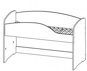 Кровать верхняя (с основанием) 200х130 Фламинго