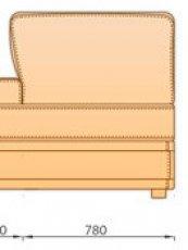 Модуль Оттоманка Отт78б/я для модульного дивана Майами
