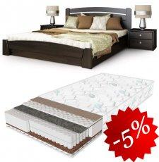 Комплект: кровать Селена Аури + матрас Daily 2in1 180см + 2 Тумбы В2