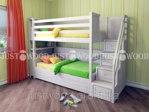 Двухъярусная кровать Justwood Синдерелла +