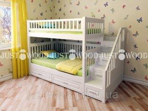 Двухъярусная кровать Justwood Простоквашино с платформой