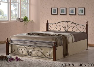 Кровать Onder Metal Metal&Wood АТ - 9181 200x140см
