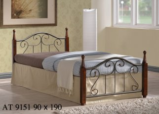 Кровать Onder Metal Metal&Wood АТ-9151 190x90см