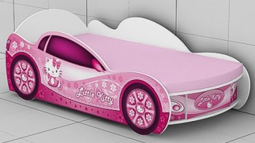 Кровать -машинка KM-380-1/2 c ящиком Kitty