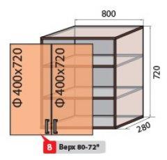 Модуль №8 в 600-720 верх кухни