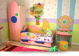 Детская спальня Лунная Сказка №4