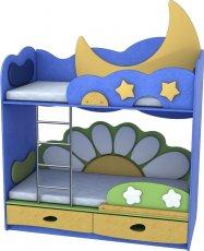 Кровать двухъярусная Ромашка-Месяц Лунная Сказка