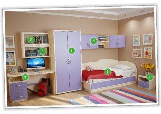 Детская спальня №5 Планета Луна
