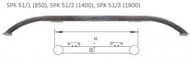 Опора металлическая SPK-51/1 хром 850 (дуга)