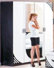 Шкаф 4-х дверный Мирина