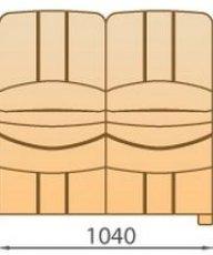 Модуль 2С104 кожаного модульного дивана Манхетен