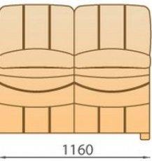 Модуль 2С118 кожаного модульного дивана Манхетен