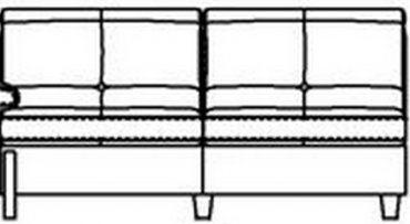 Модуль 2С170 к модульному диван у Моррис