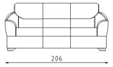Кожаный диван Клер 1,5