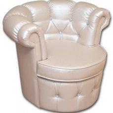 Кожаное кресло Валенсия (с пуговицами)