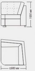 Модуль угол мягкий №7 к диван у Династия