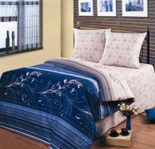 Полуторный комплект постельного белья Индиго