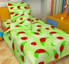 Детский полуторный комплект постельного белья Божья коровка