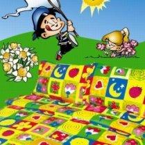 Детский полуторный комплект постельного белья Клаптики