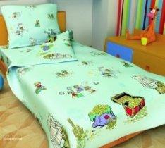 Детский полуторный полуторный комплект постельного белья Коты-пираты