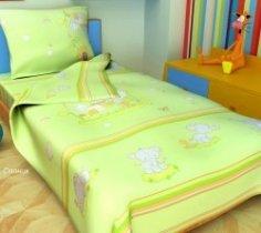 Детский полуторный комплект постельного белья Слоники