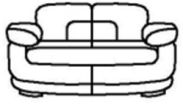 Кожаный диван Тироло 1,8