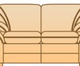 Модуль 2С104 для кожаного дивана Джессика