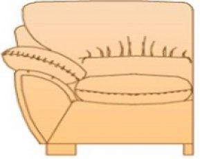 Модуль Б-1С59 для кожаного дивана Калифорния