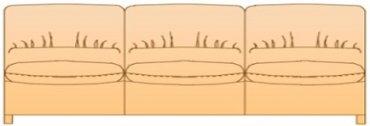 Модуль 3Р140сф для кожаного дивана Калифорния