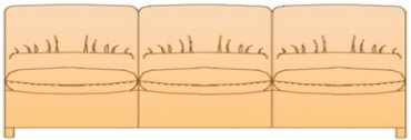 Модуль 3Р177вк для кожаного дивана Калифорния
