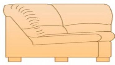 Модуль Б-Отт52 для кожаного дивана Калифорния