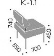 Модуль дивана Квадро 1.1