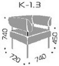 Модуль дивана Квадро 1.3