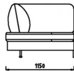 Модуль Уп115 к дивану Римини