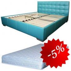 Комплект кровать Гера + матрас Daily 2in1 160x200