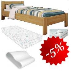 Комплект в детскую №2: кровать + матрас + наматрасник + подушка 80х190