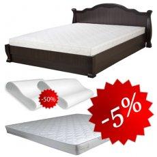 Комплект: кровать Татьяна-элегант + матрас Daily 2in1 160х200, 2 подушки Orthobalance за пол цены